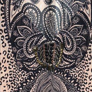 bebe Tops - Bebe animal print stone blouse